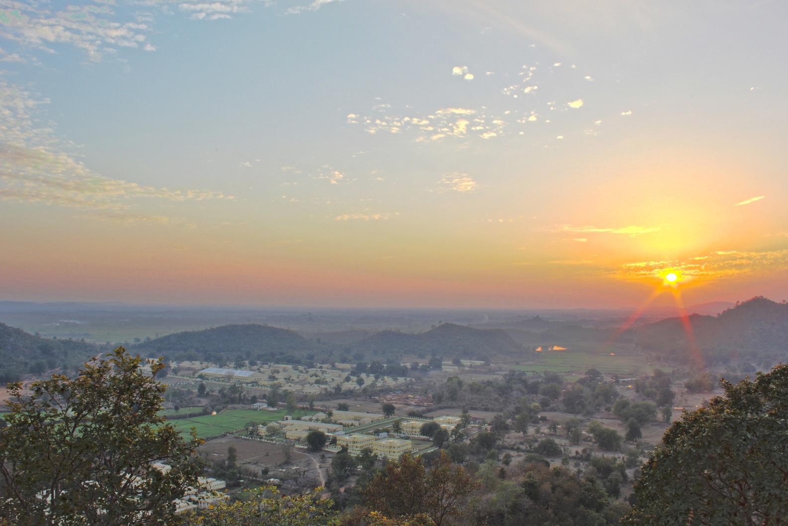 Brahmasthan sunset